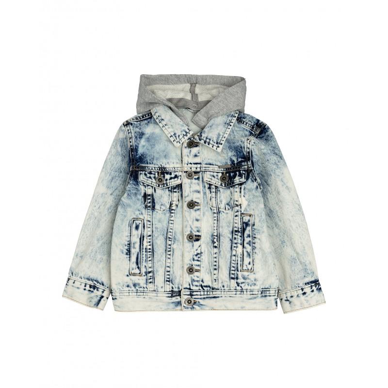 Джинсовая куртка с капюшоном Gulliver