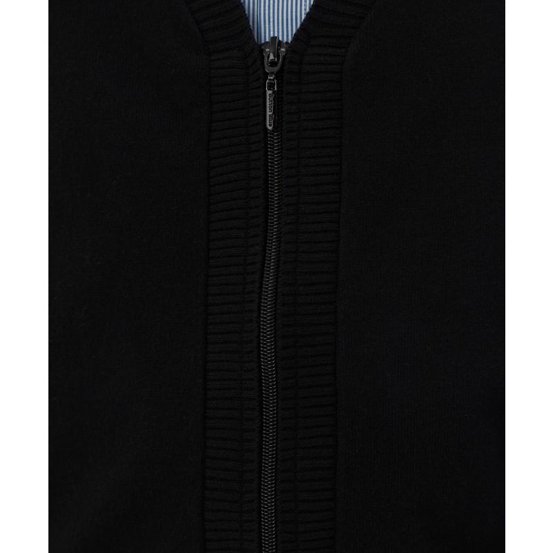 Черный тонкий кардиган Button Blue (фото 5)