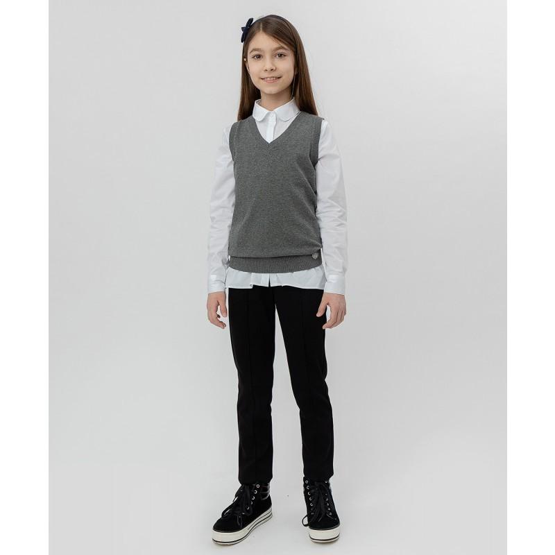 Серый трикотажный жилет Button Blue (фото 2)