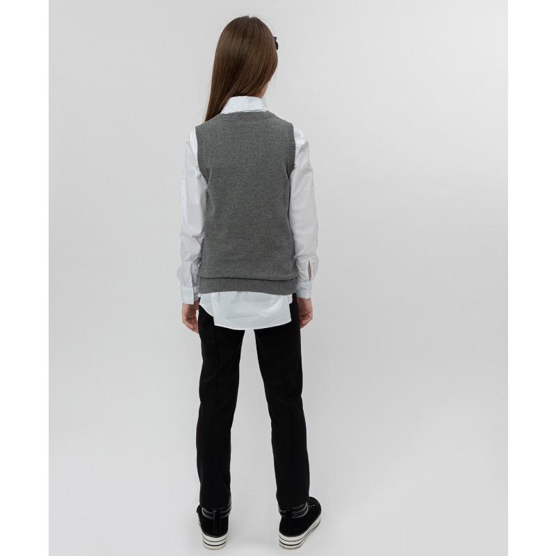 Серый трикотажный жилет Button Blue (фото 4)