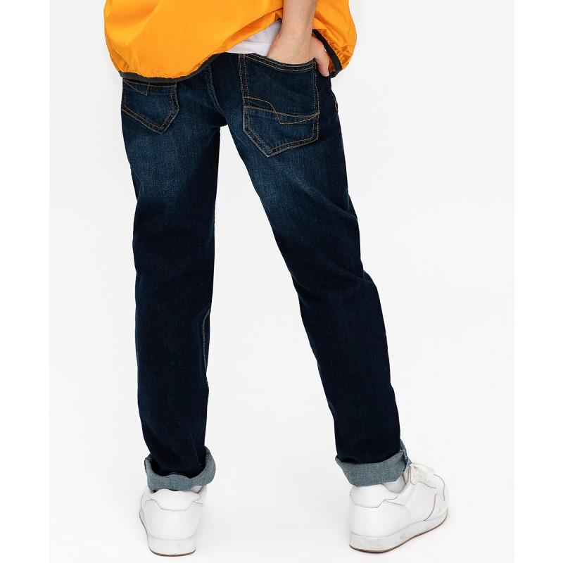 Темно-синие джинсы Regular Fit Button Blue (фото 4)