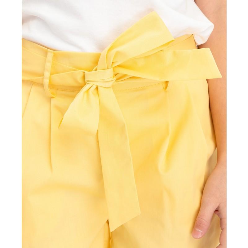 Желтые шорты с поясом Button Blue (фото 4)
