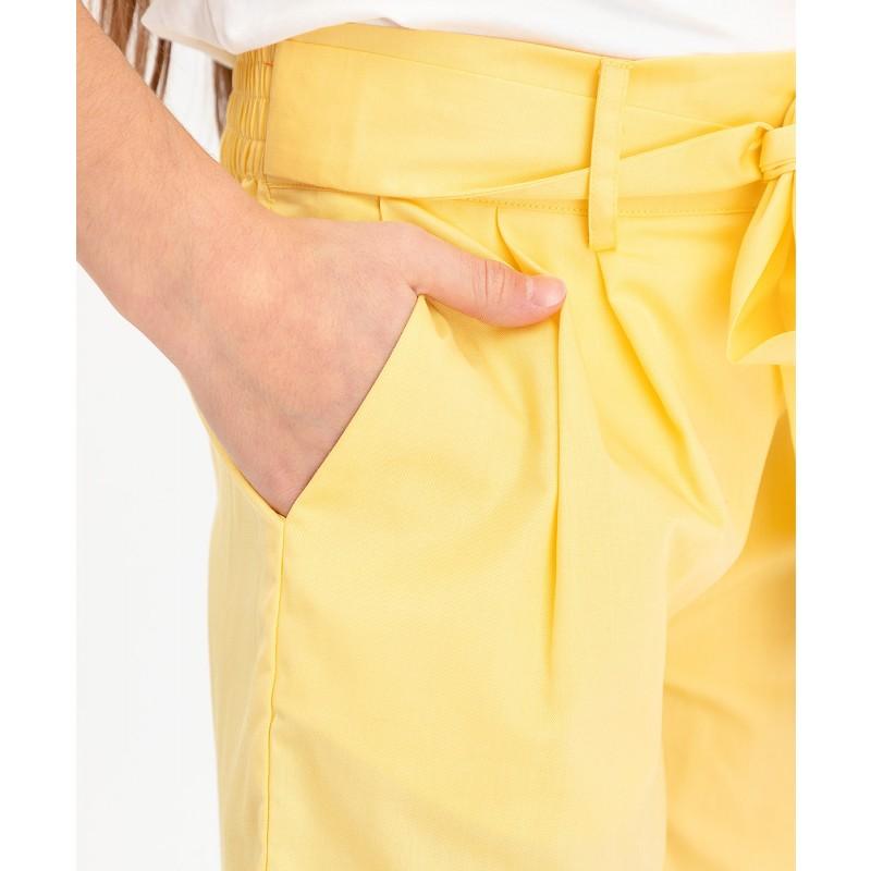 Желтые шорты с поясом Button Blue (фото 5)