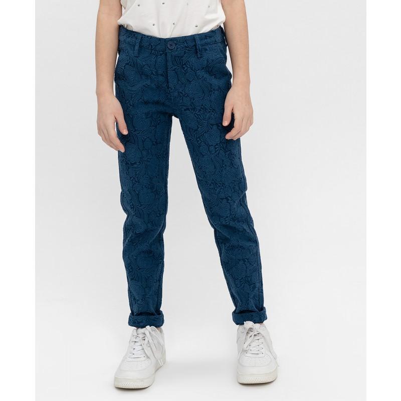 Синие жаккардовые брюки Button Blue (фото 2)