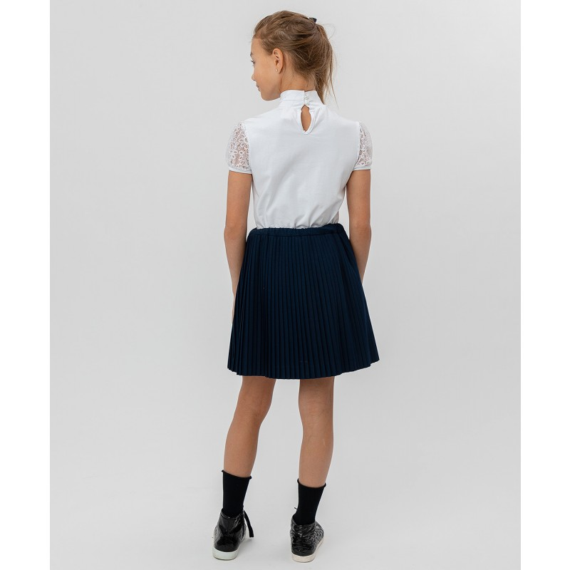 Синяя плиссированная юбка Button Blue (фото 4)