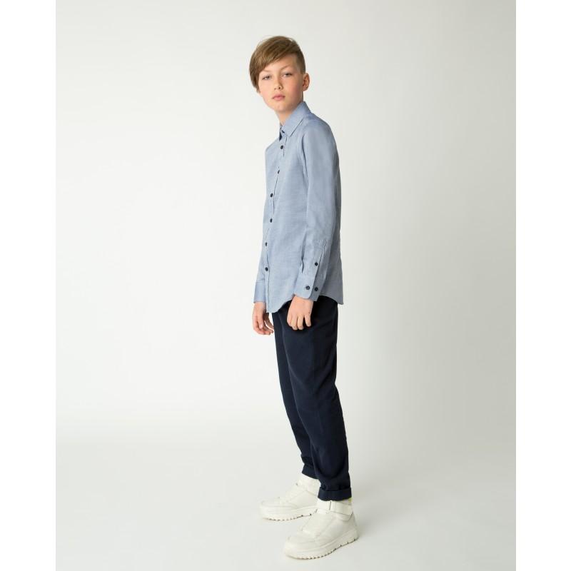 Синяя рубашка Gulliver