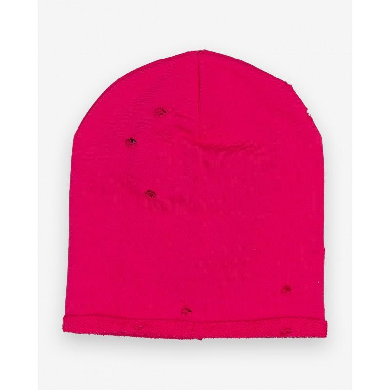 Розовая трикотажная шапка Gulliver (фото 3)