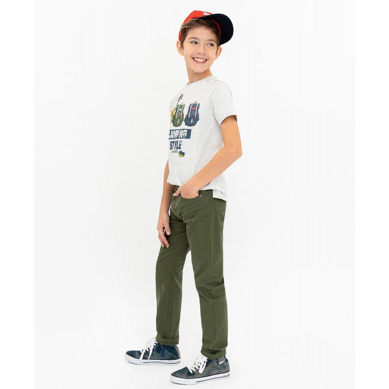 Твиловые брюки цвета хаки Button Blue (фото 4)