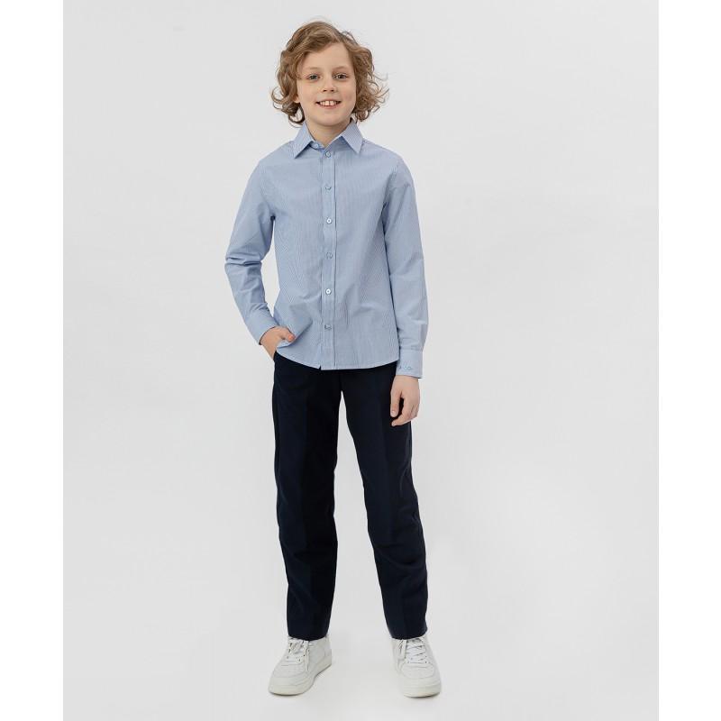 Голубая рубашка в полоску Button Blue (фото 2)