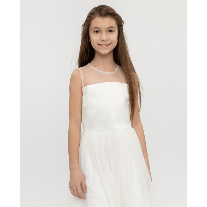 Белое нарядное платье Gulliver (фото 2)