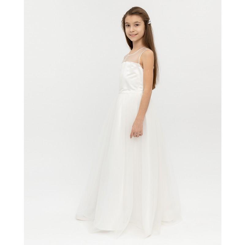Белое нарядное платье Gulliver (фото 3)