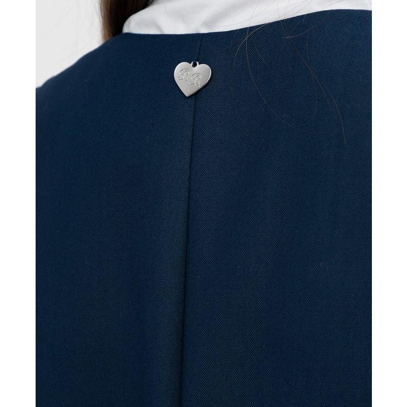 Синий удлиненный жилет Button Blue (фото 5)