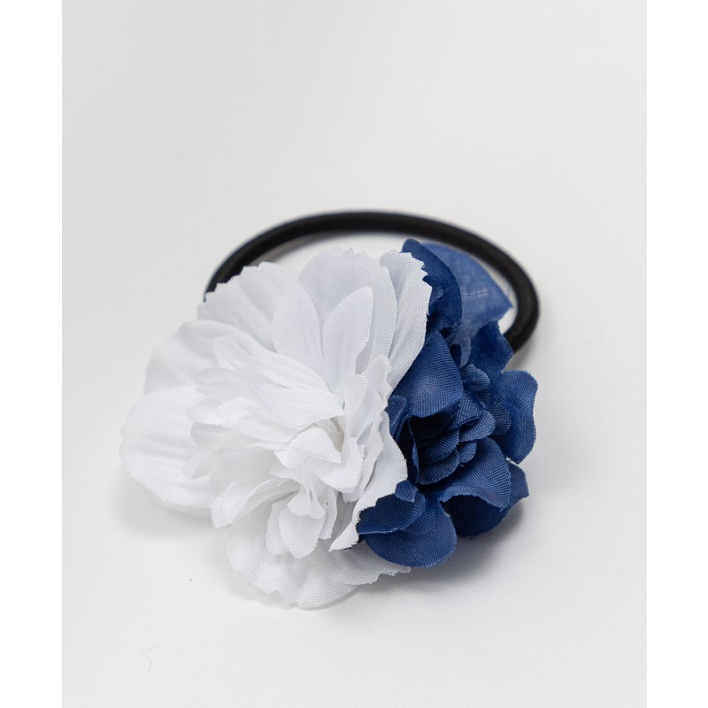 Резинка для волос с цветами Button Blue