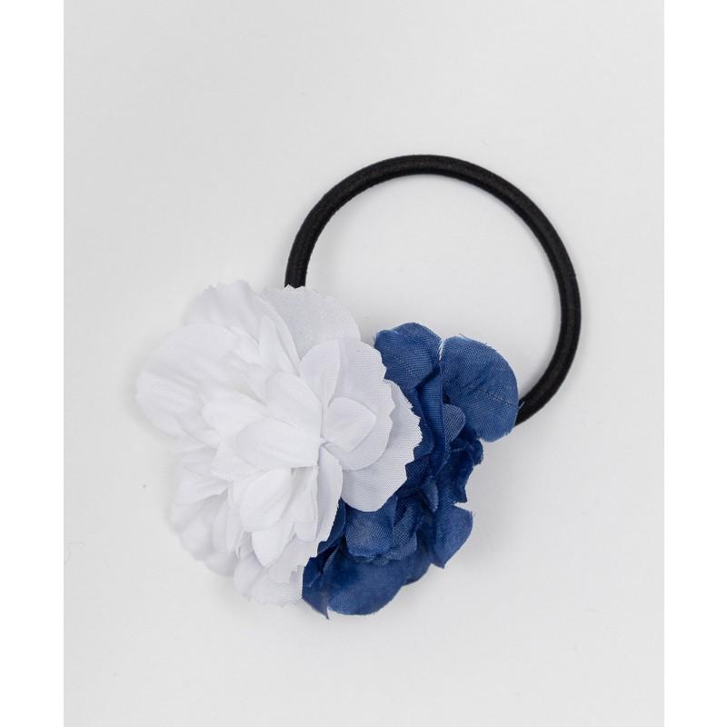 Резинка для волос с цветами Button Blue (фото 2)