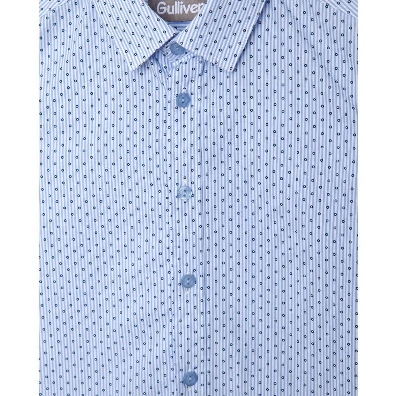 Голубая рубашка в горошек Gulliver (фото 3)
