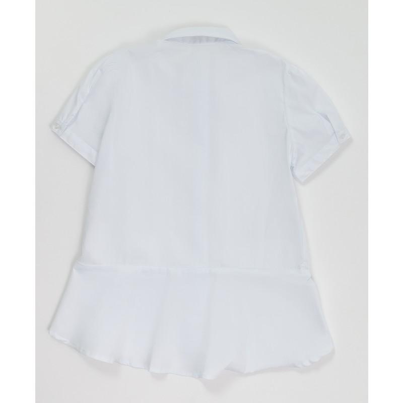 Белая блузка с коротким рукавом Button Blue (фото 2)