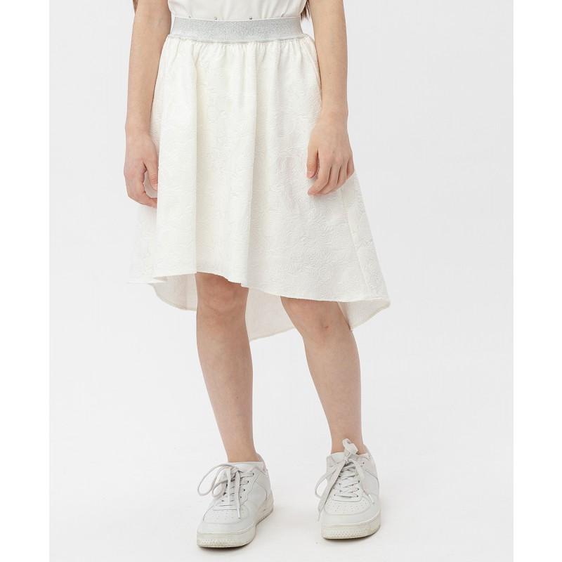 Белая жаккардовая юбка на резинке Button Blue (фото 2)