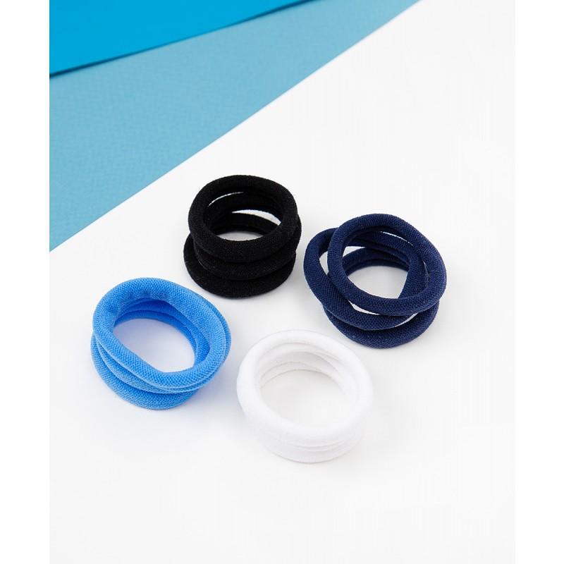 Комплект резинок для волос, 12 шт. Button Blue