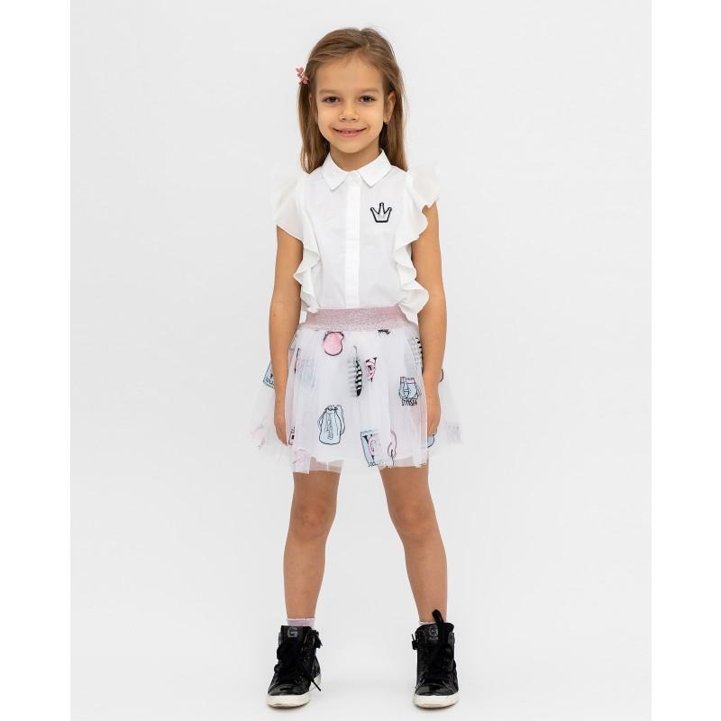 Белая юбка с принтом Gulliver