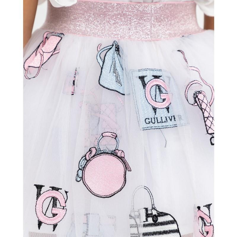 Белая юбка с принтом Gulliver (фото 5)