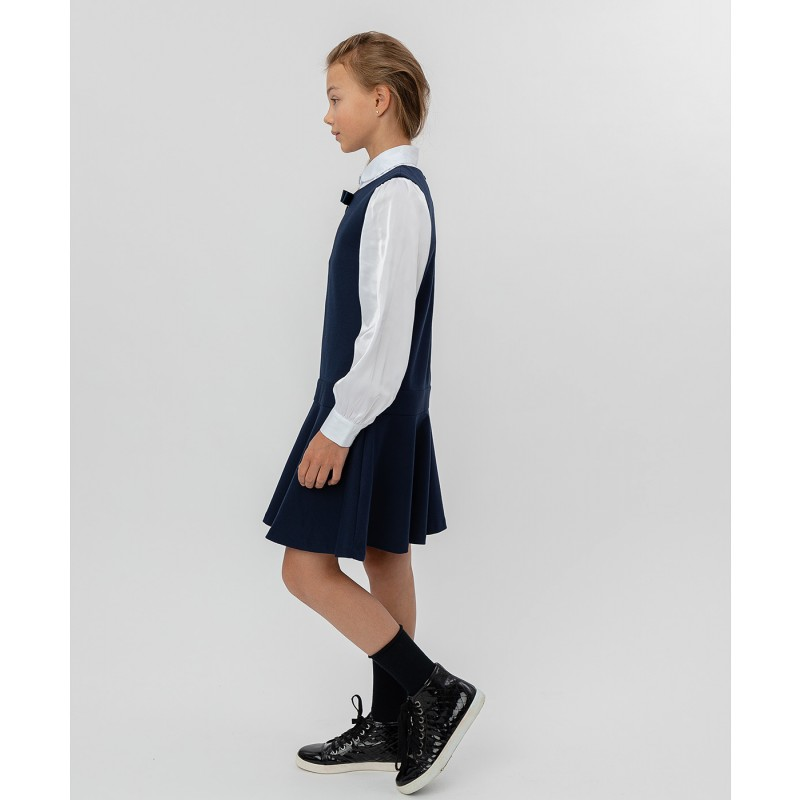 Синее трикотажное платье Button Blue (фото 3)
