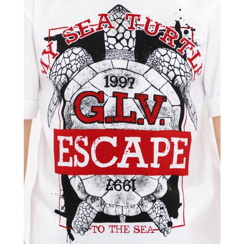 Белая футболка с принтом Gulliver (фото 5)