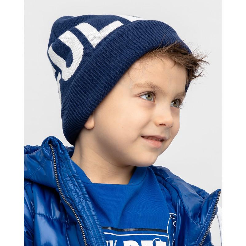 Синяя вязаная шапка Gulliver (фото 3)