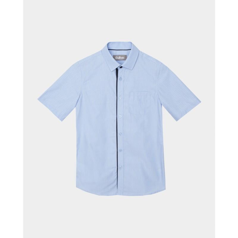 Голубая рубашка в полоску Gulliver (фото 3)