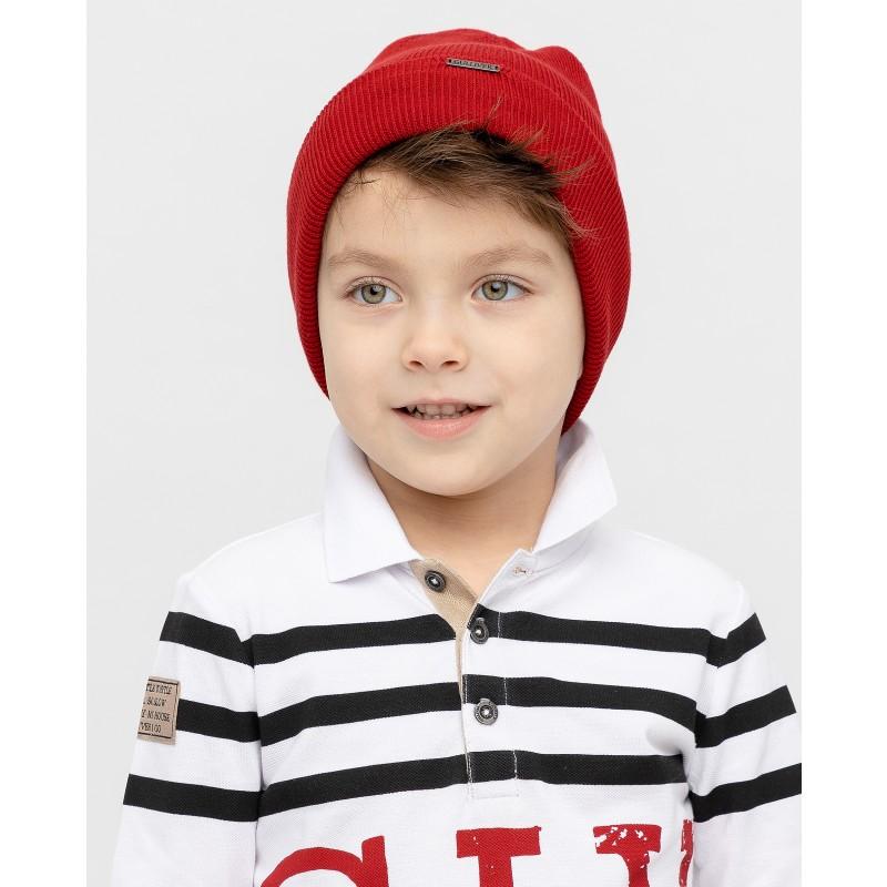 Красная вязаная шапка Gulliver