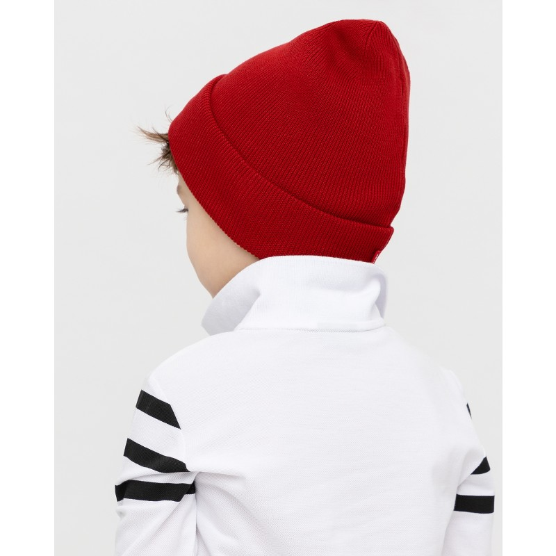 Красная вязаная шапка Gulliver (фото 3)
