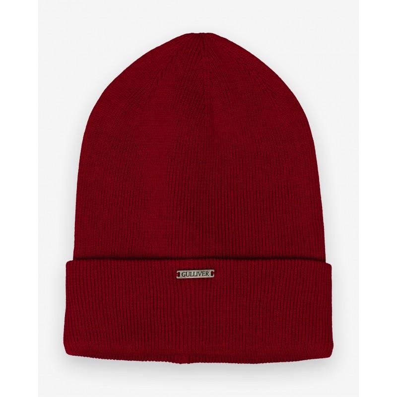 Красная вязаная шапка Gulliver (фото 4)