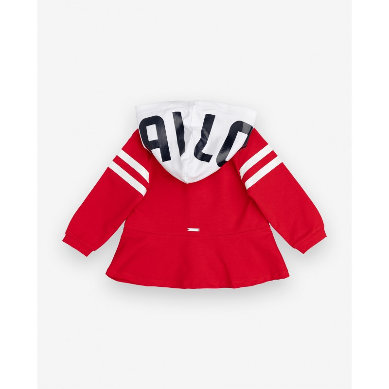 Красная толстовка с капюшоном Gulliver (фото 2)