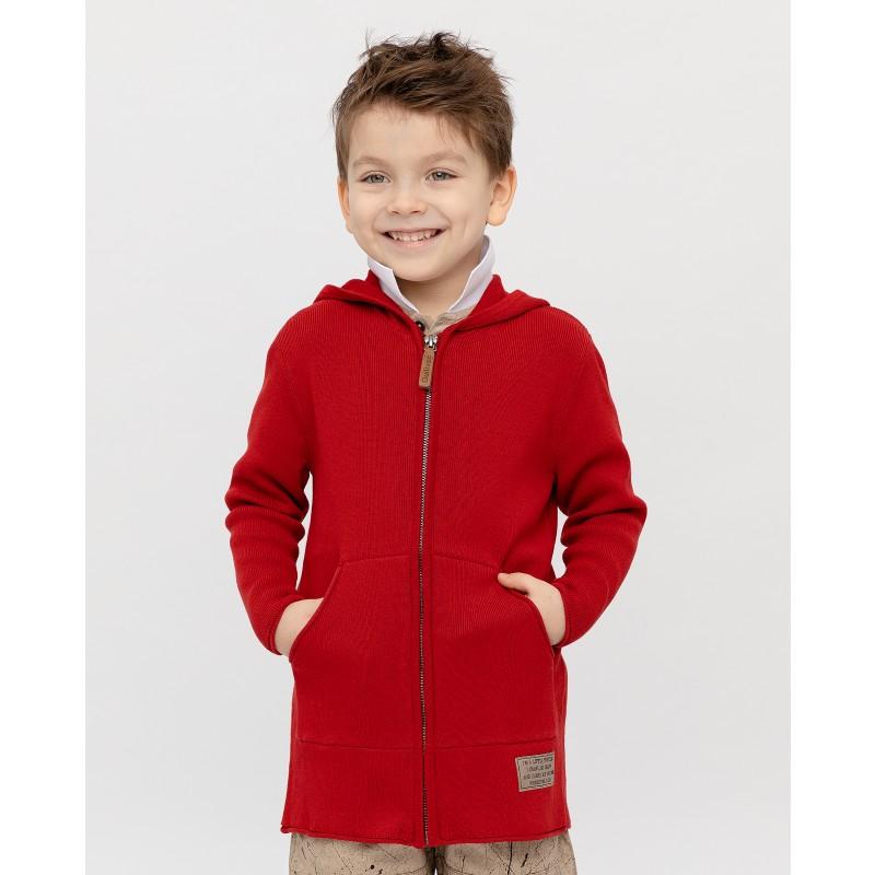 Красный кардиган с капюшоном Gulliver