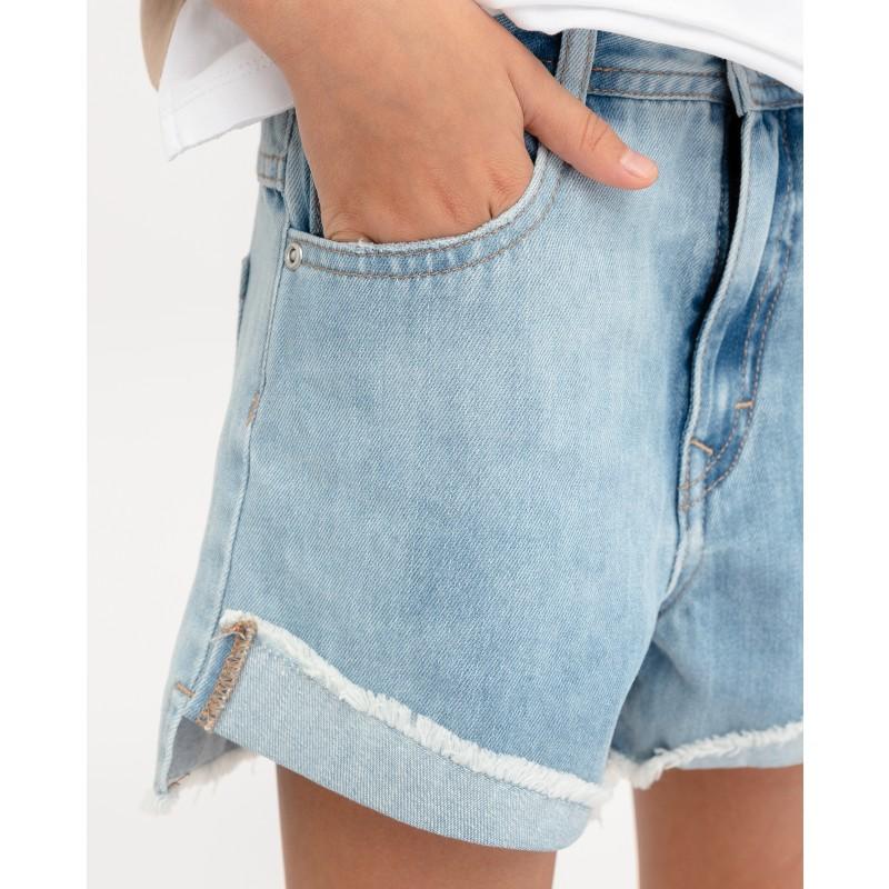 Комплект из джинсовых шорт и платка Gulliver (фото 4)