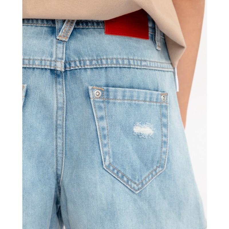 Комплект из джинсовых шорт и платка Gulliver (фото 5)
