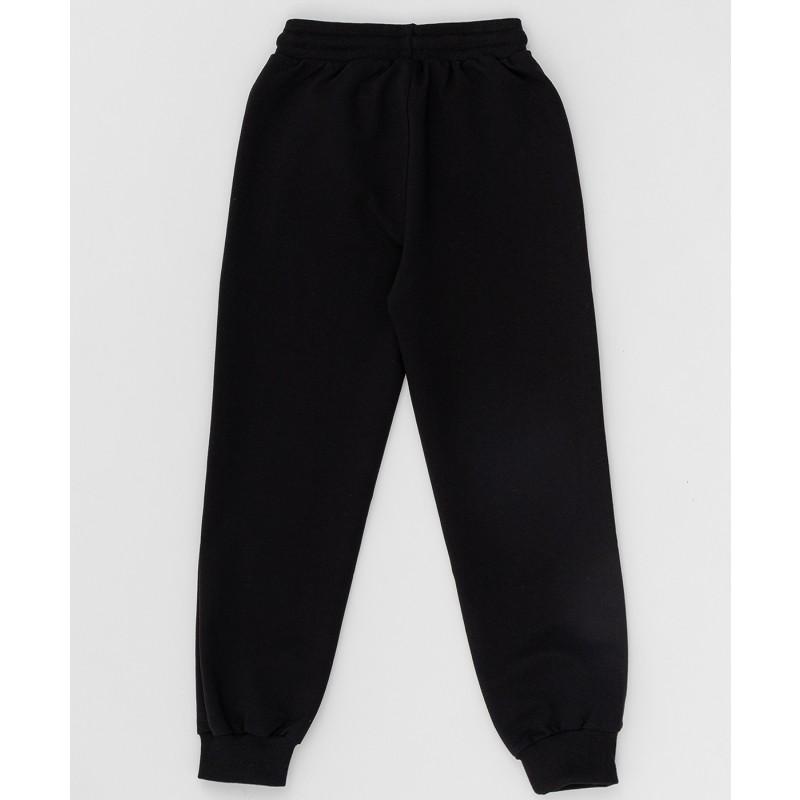 Черные брюки из футера Button Blue (фото 2)