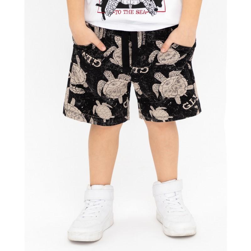 Черные шорты с принтом Gulliver (фото 2)