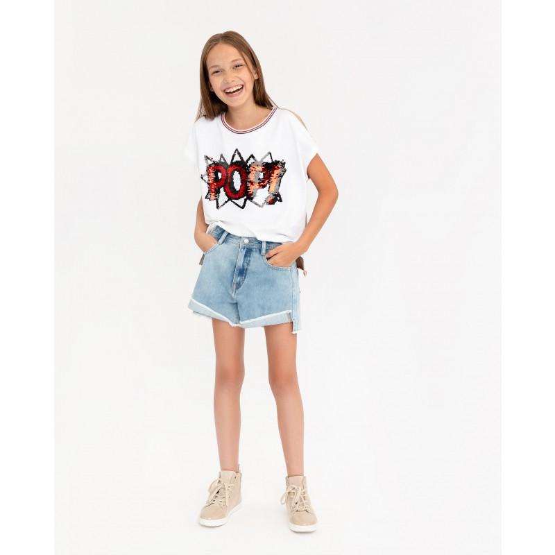 Комплект из джинсовых шорт и платка Gulliver (фото 2)