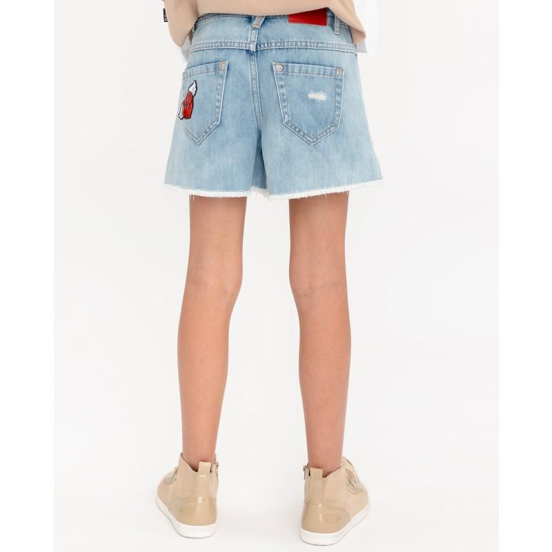 Комплект из джинсовых шорт и платка Gulliver (фото 3)