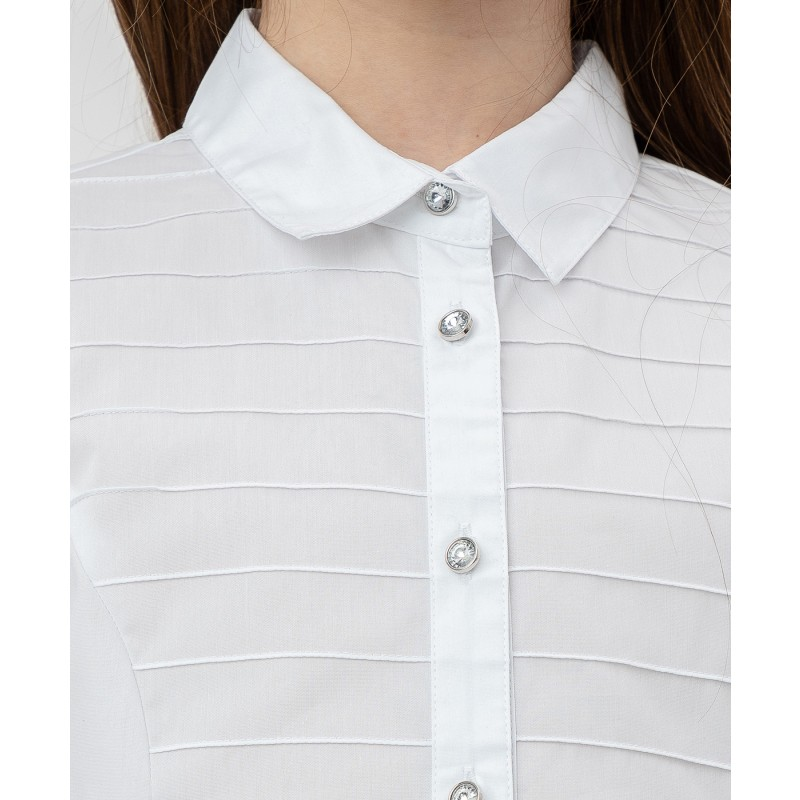 Белая рубашка с пуговицами-стразами Button Blue (фото 5)