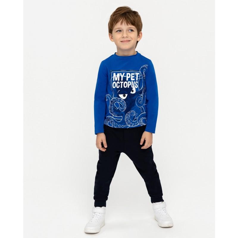 Синяя футболка с длинным рукавом Gulliver (фото 2)