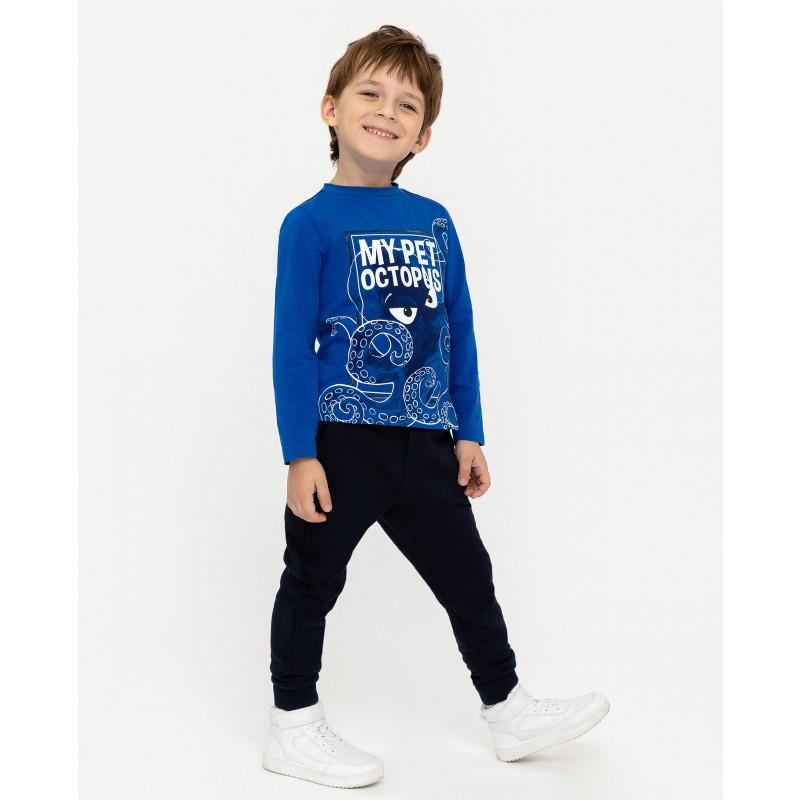 Синяя футболка с длинным рукавом Gulliver (фото 3)