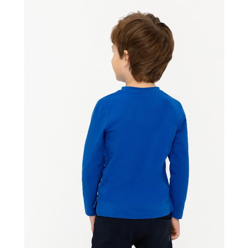 Синяя футболка с длинным рукавом Gulliver (фото 4)