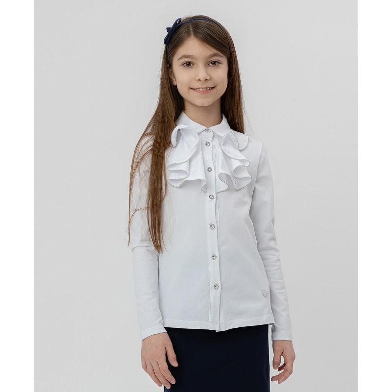 Белая блузка с жабо Button Blue (фото 2)