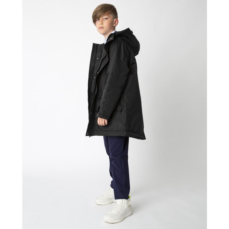Черная демисезонная куртка Gulliver