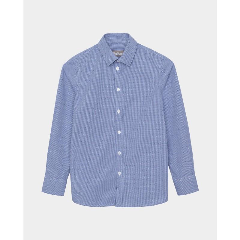 Синяя рубашка Gulliver (фото 4)