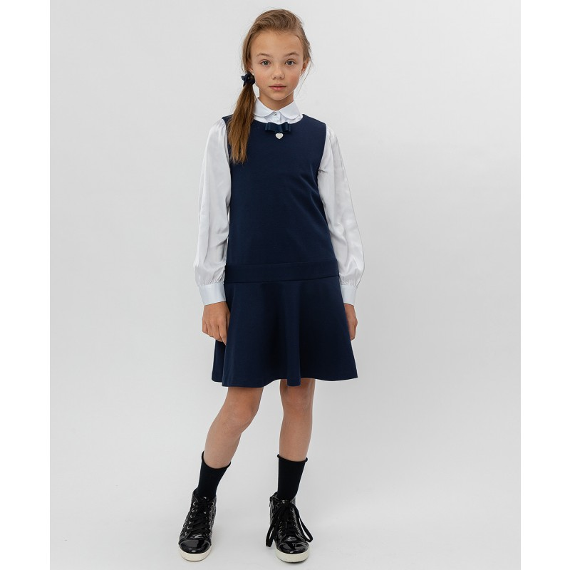 Синее трикотажное платье Button Blue (фото 2)