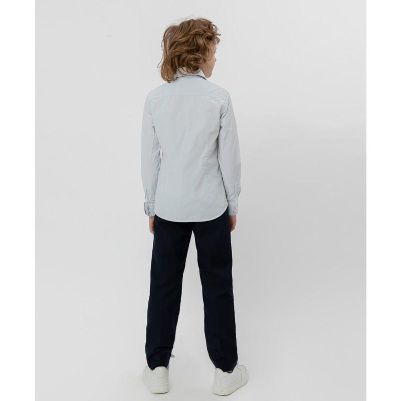 Серая рубашка в полоску Button Blue (фото 4)