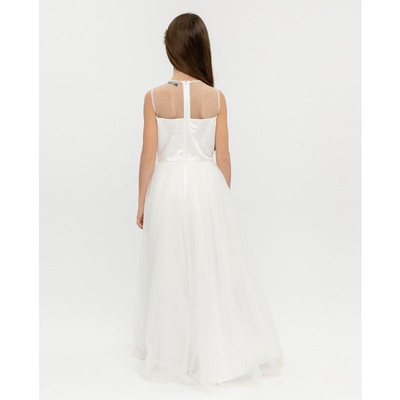 Белое нарядное платье Gulliver (фото 4)