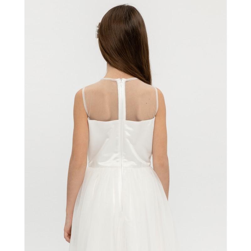 Белое нарядное платье Gulliver (фото 5)